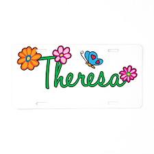 Theresa Flowers Aluminum License Plate
