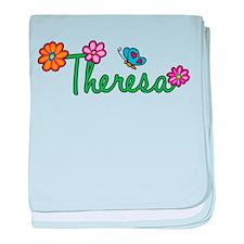 Theresa Flowers baby blanket