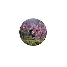 Spring Half Pass Dressage Horse Mini Button