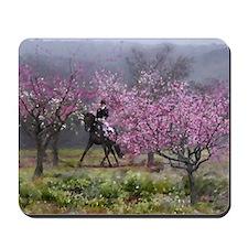 Spring Half Pass Dressage Horse Mousepad