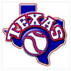 Texas Baseball Poster
