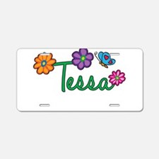 Tessa Flowers Aluminum License Plate