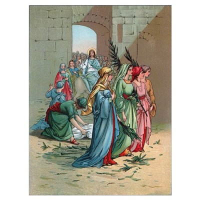 Jesus enters Jerusalem Poster