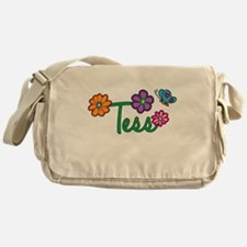 Tess Flowers Messenger Bag