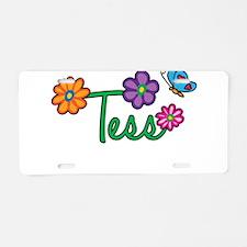 Tess Flowers Aluminum License Plate