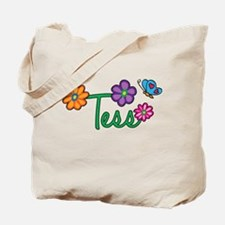 Tess Flowers Tote Bag