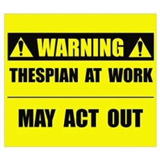 Thespian At Work Framed Print