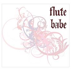 Flute Babe Poster