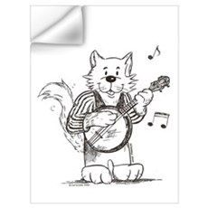 CatoonsT Banjo Cat Wall Decal