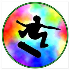 Tie Dye Skater Canvas Art