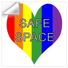 Safe Space In Heart Wall Decal