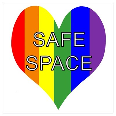 Safe Space In Heart Canvas Art