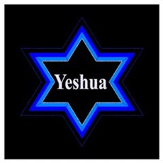 Yeshua Star of David (Blk) Poster