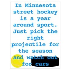 MN Street Hockey Canvas Art