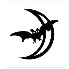 Bat Moon Poster