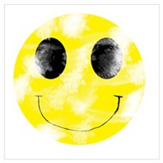 Vintage Smiley Face 1 Poster