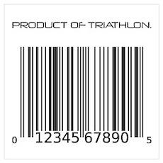 Traithlon Barcode Poster