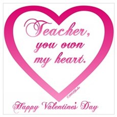 Teacher ~ You Own My Heart Framed Print