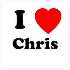 I Heart Chris Poster