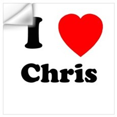 I Heart Chris Wall Decal