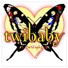 Twibaby Twilight Yellow Butterfly Poster
