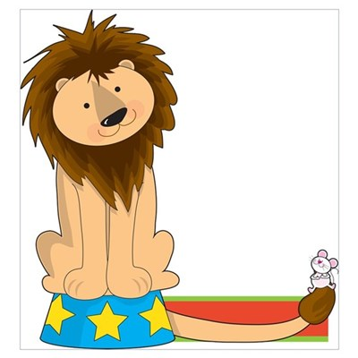 Animal Alphabet Lion Poster