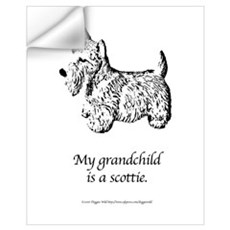 My Grandchild is a Scottie Wall Decal
