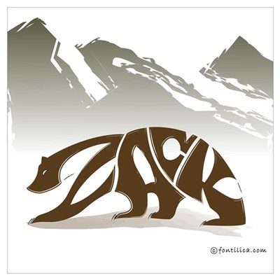 Zack (Brown Bear) Poster
