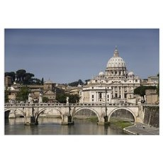 Vatican over the River Framed Print