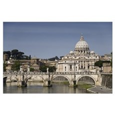 Vatican over the River Poster