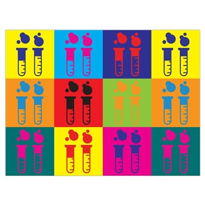 Chemical Engineering Pop Art Canvas Art