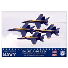 Blue Angel's F-18 Hornet Poster