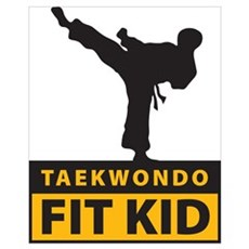 Tae Kwon Do Fit Kid Canvas Art