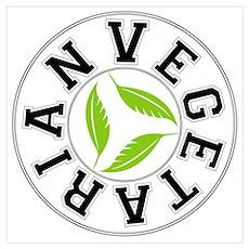 Sports Vegetarian Logo Poster