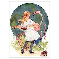 ALICE PLAYS THE QUEEN'S CROQUET Poster
