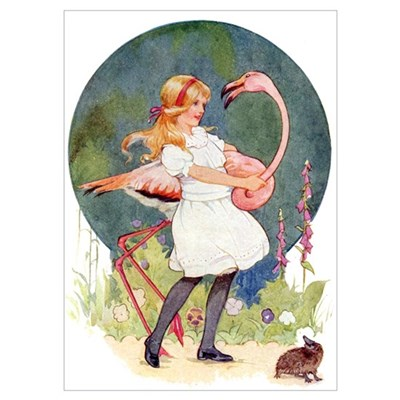 ALICE PLAYS THE QUEEN'S CROQUET Poster