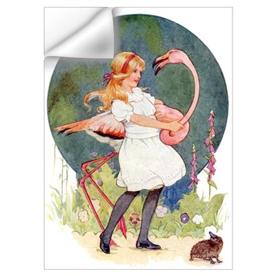 ALICE PLAYS THE QUEEN'S CROQUET Wall Decal