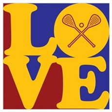 Lacrosse Love Framed Print