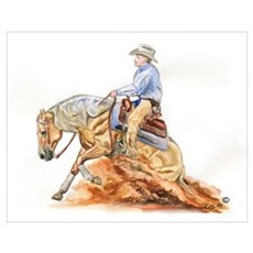 Reining horse Poster
