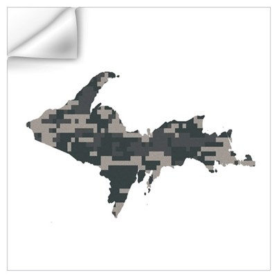 Digital Camo U.P. Wall Decal
