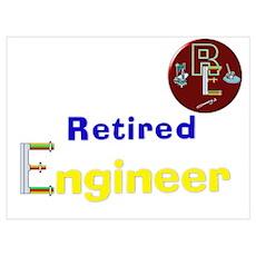 Retired Engineer. Poster