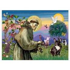 St. Francis Brindle Frenchie Poster