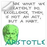 We are what we repeatedly do and aristotle Wall Decals