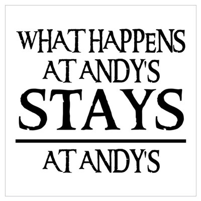 STAYS AT ANDY'S Framed Print
