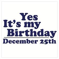 December 25th Birthday Poster