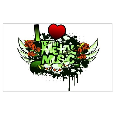 I Heart Death Metal Music Poster