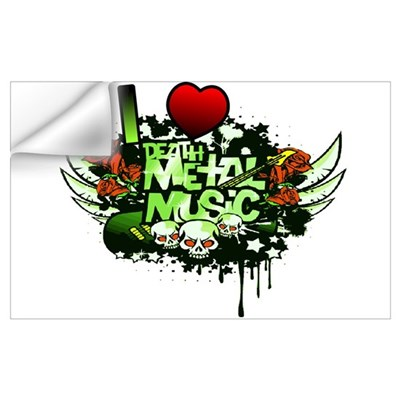 I Heart Death Metal Music Wall Decal