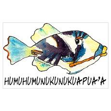 Humuhumu Fish Poster