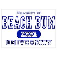 Beach Bum University Poster