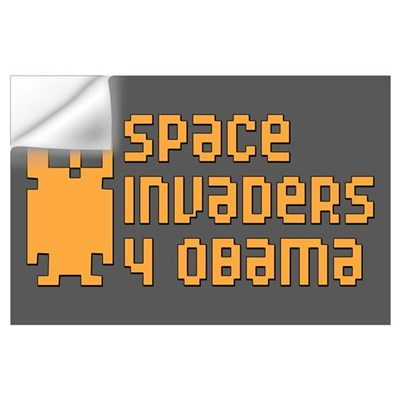 Space Invaders 4 Obama (Large) Wall Decal